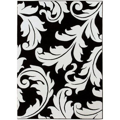 Black Area Rug Rug Size: Rectangle 79 x 105