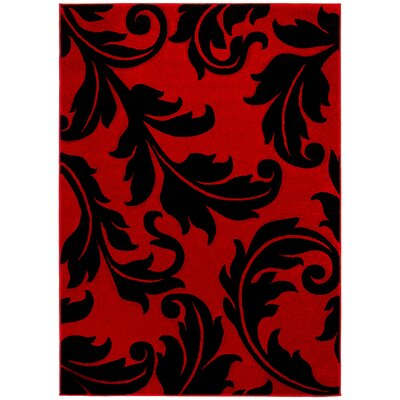Red Area Rug Rug Size: 7'9