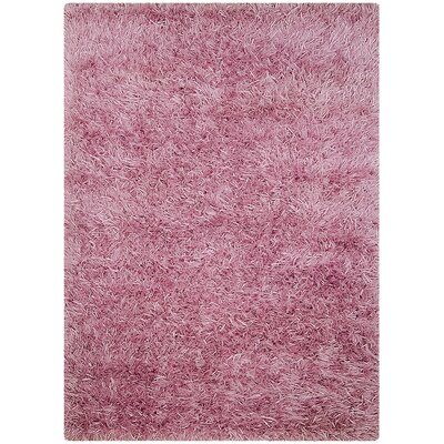 Hand-Knotted Lavender Area Rug Rug Size: 5' x 7'