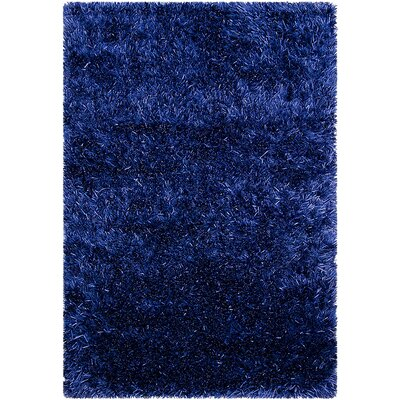 Hand-Knotted Blue Area Rug Rug Size: 5 x 7