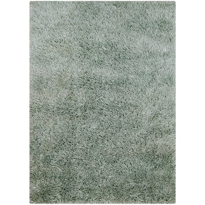 Hand-Knotted Green Area Rug Rug Size: 5 x 7