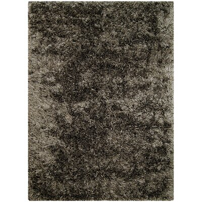 Hand-Knotted Titanium Area Rug Rug Size: 5 x 7