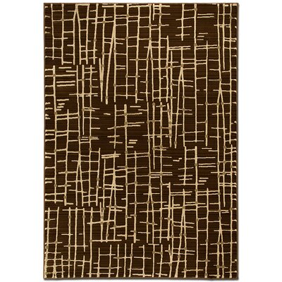 Lines Chocolate Area Rug Rug Size: 52 x 72