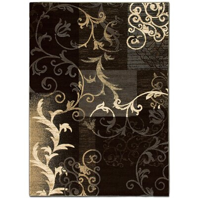 Brown/Gray Area Rug Rug Size: 79 x 105