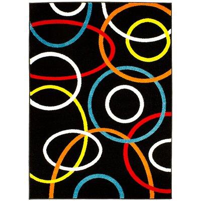 Black Area Rug Rug Size: 5 x 611