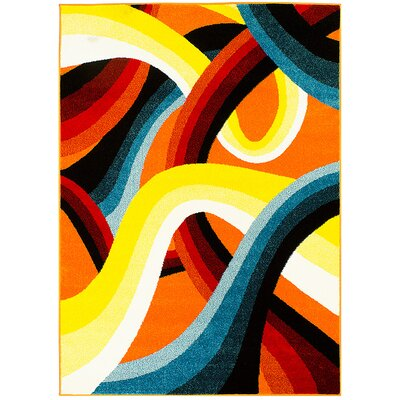 Yellow/Orange Area Rug Rug Size: 5 x 611