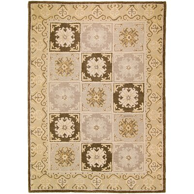 Handmade Beige Area Rugs Rug Size: 711 x 1011