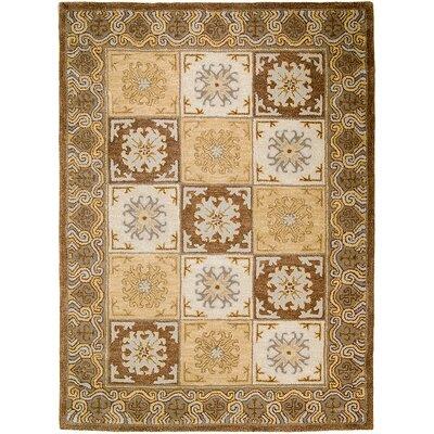 Handmade Brown/Beige Area Rugs Rug Size: 5 x 611