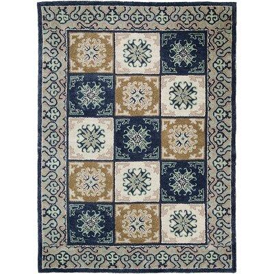 Handmade Blue Area Rug Rug Size: 5 x 611