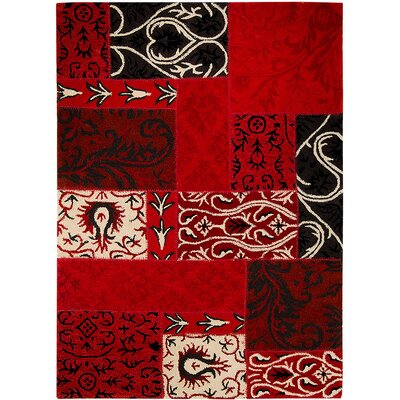 Handmade Red Area Rugs Rug Size: 711 x 1011