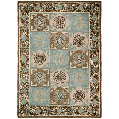 Handmade Blue/Brown Area Rugs Rug Size: 5 x 611