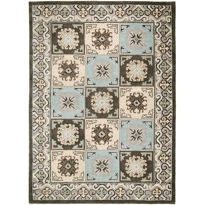 Handmade Charcoal Area Rugs Rug Size: 5 x 611