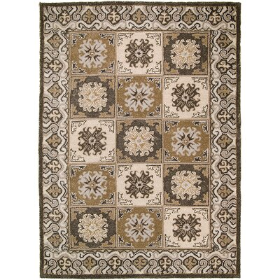 Handmade Gray/Brown Area Rugs Rug Size: 5 x 611