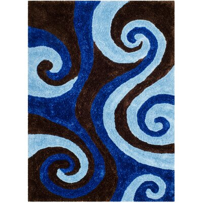 Hand-Tufted Blue Area Rug Rug Size: 5 x 7