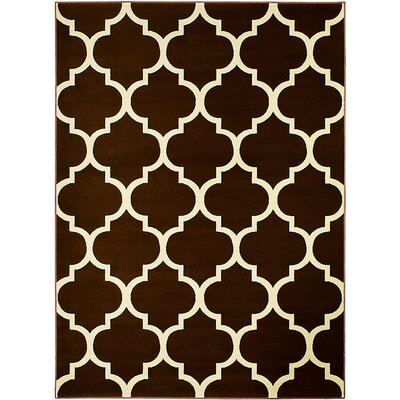 Chocolate Area Rug Rug Size: 51 x 71