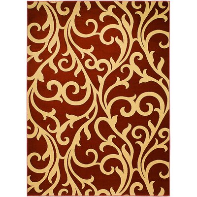 Cotta/Brown Area Rug Rug Size: 77 x 105