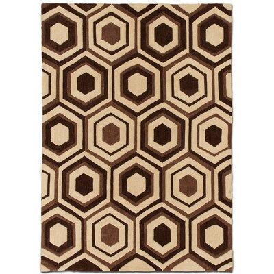 Handmade Brown Area Rug Rug Size: 7 x 102