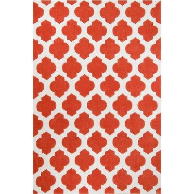 Handmade Orange Area Rug Rug Size: 411 x 611