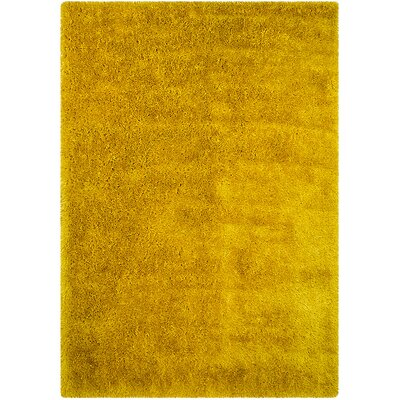 Yellow Area Rug Rug Size: Rectangle 77 x 104
