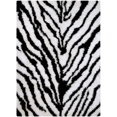 Zebra Area Rug Rug Size: Rectangle 77 x 104