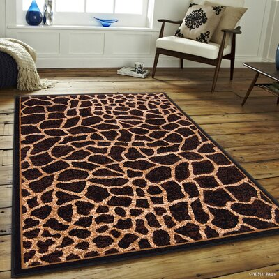 Hand-Tufted Brown/Beige Area Rug Rug Size: 52 x 71