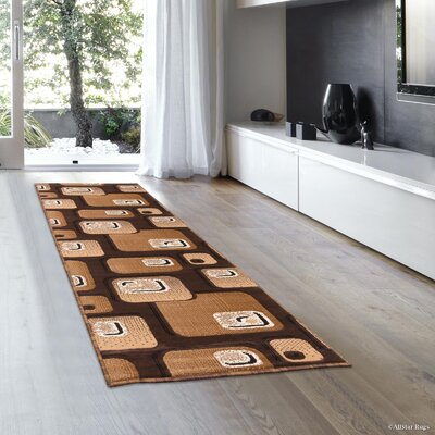 Hand-Woven Brown Area Rug Rug Size: Runner 2 x 7