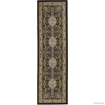 Hand-Woven Black/Brown Area Rug