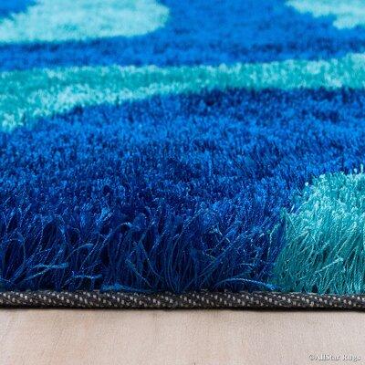 Hand-Tufted Blue/Sky Blue Area Rug Rug Size: 7'11