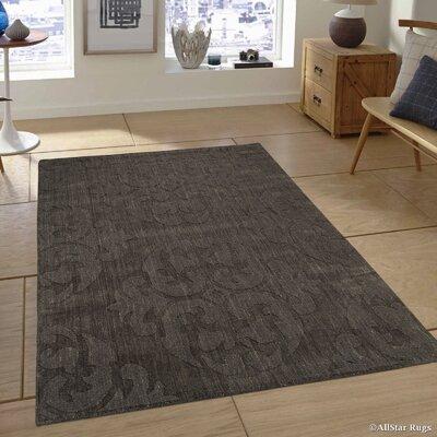Hand-Woven Gray Area Rug Rug Size: 711 x 911
