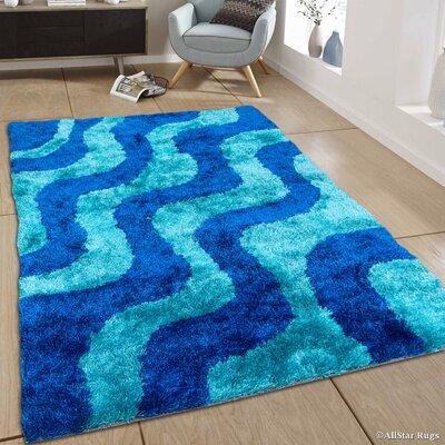 Hand-Tufted Blue/Sky Blue Area Rug Rug Size: 411 x 611