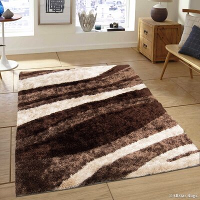Hand-Tufted Chocolate/Brown Area Rug Rug Size: 411 x 611