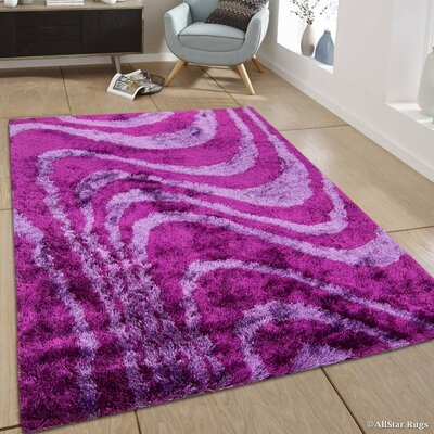 Hand-Tufted Purple/Pink Area Rug Rug Size: 711 x 105