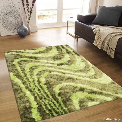 Hand-Tufted Green Area Rug Rug Size: 711 x 105