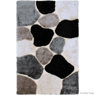 Hand-Tufted Brown/Black Area Rug Rug Size: 711 x 105