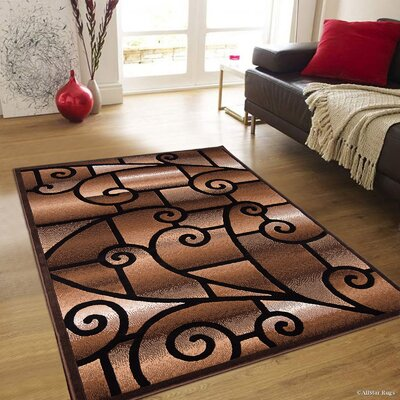 Hand-Woven Brown Area Rug Rug Size: Rectangle 5 2 x 7 2