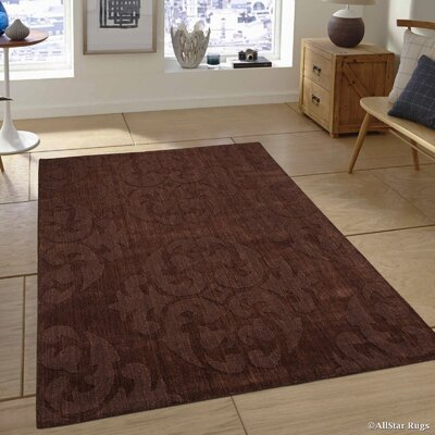 Hand-Woven Espresso Area Rug Rug Size: 711 x 911