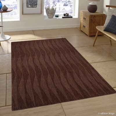 Hand-Woven Brown Area Rug Rug Size: 7'11