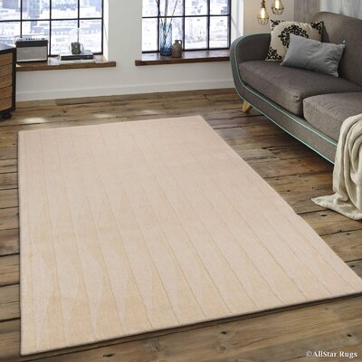 Hand-Woven Ivory Area Rug Rug Size: 711 x 911