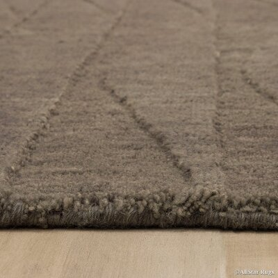 Hand-Woven Brown Area Rug Rug Size: 711 x 911