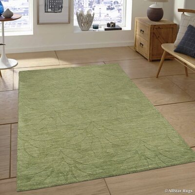 Hand-Woven Green Area Rug Rug Size: 711 x 911