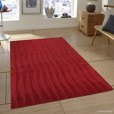 Hand-Woven Red Area Rug Rug Size: 411 x 7