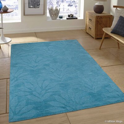 Hand-Woven Blue Area Rug Rug Size: 711 x 911