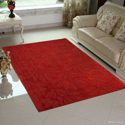 Hand-Woven Red Area Rug Rug Size: 711 x 911