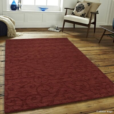 Alicia Rectangle High-Quality Wool Extra Soft Brick Area Rug