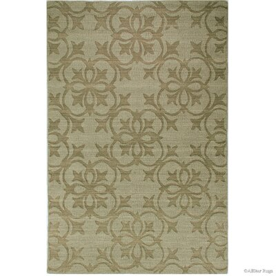 Hand-Woven Olive Area Rug