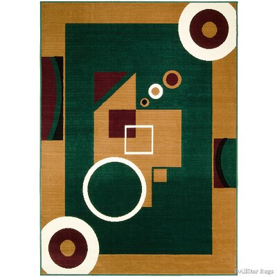 Hand-Woven Green/Brown Area Rug