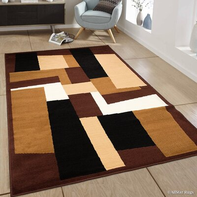 Burrows Brown Area Rug Rug Size: 77 x 106