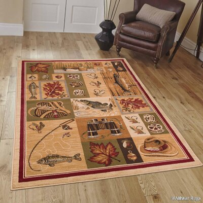 African Contours Brown Area Rug Rug Size: 39 x 51