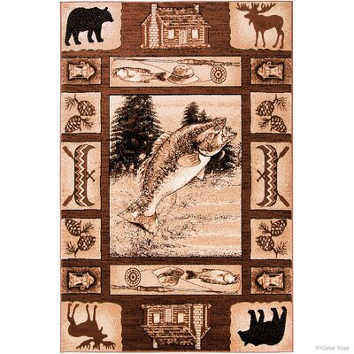 Hand-Woven Brown Area Rug Rug Size: 39 x 51