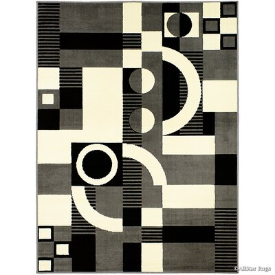 Gray/Beige Area Rug Rug Size: 77 x 106